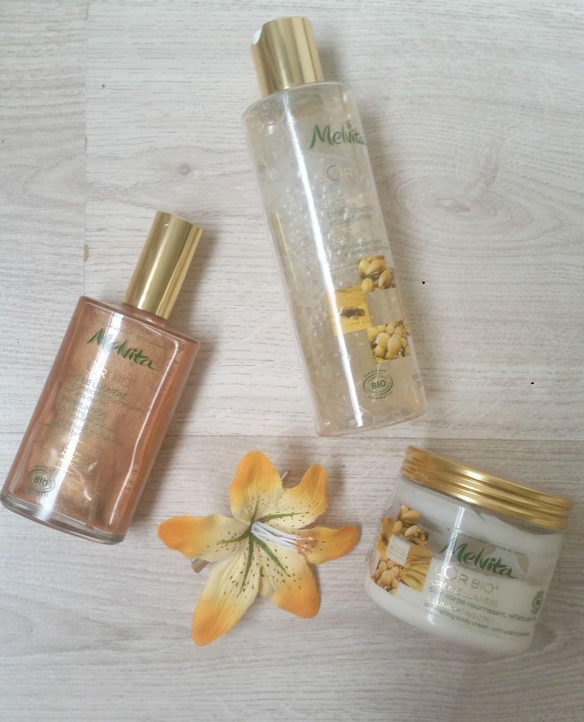 La gamme l'or bio de chez Melvita