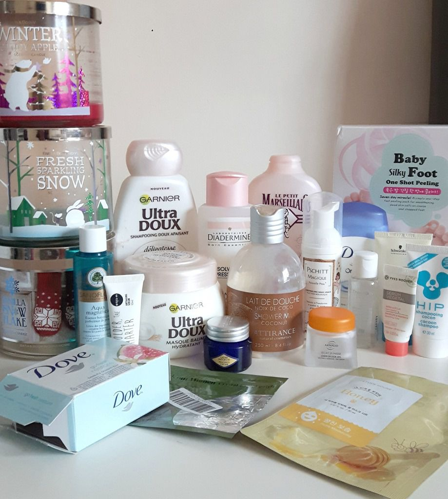 Mes produits terminés de Novembre Partie 1: Bath and bod works, Dove, Ultra Doux...