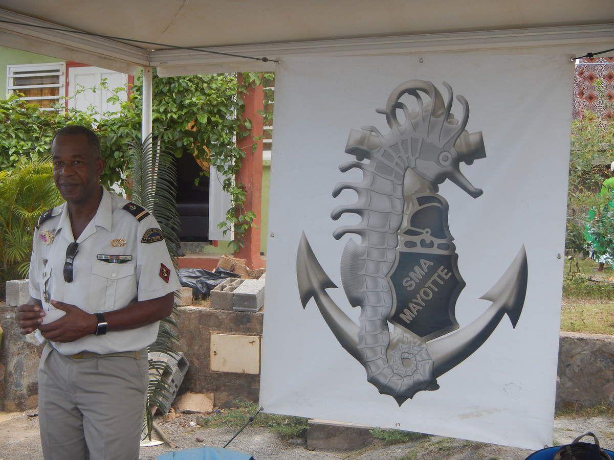 Même le SMA de Mayotte (service militaire adapté  à Mayotte ) était représenté. Il a pour mission la réinsertion socioprofessionnelle de jeunes mahorais en situation d'échec scolaire.