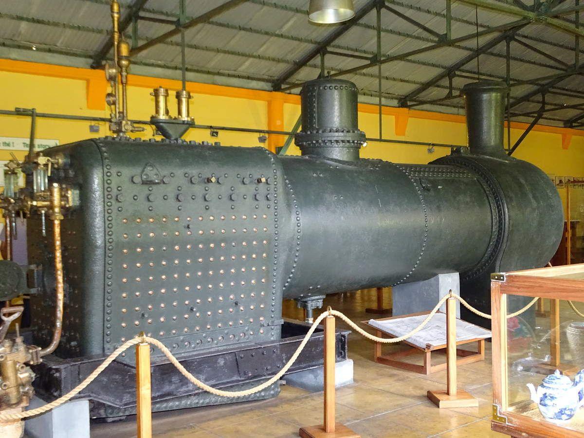Une locomotive recyclée en chaudière