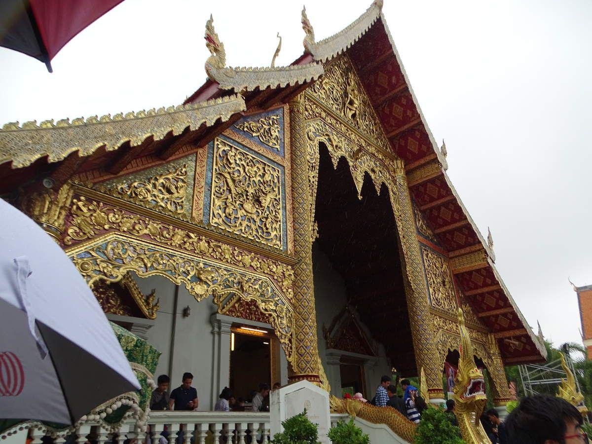 La façade du temple