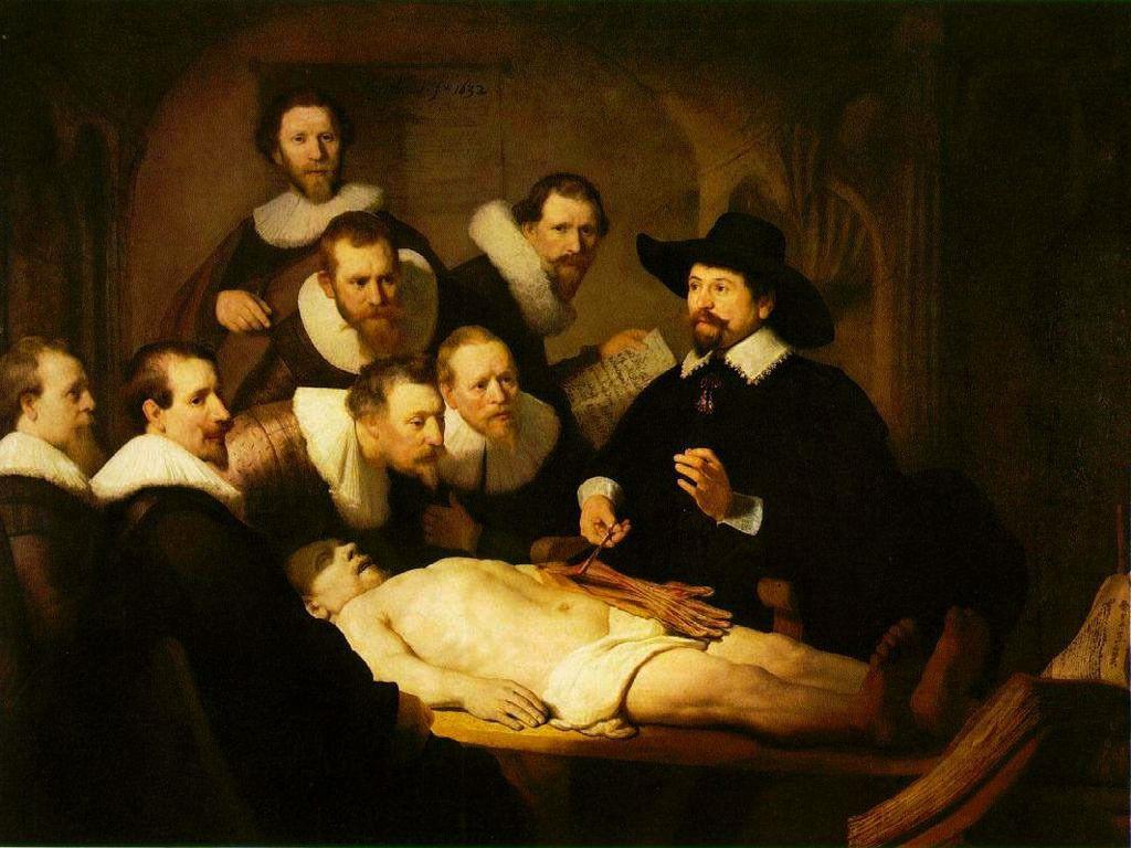 Rembrandt, la leçon d'anatomie, 1632