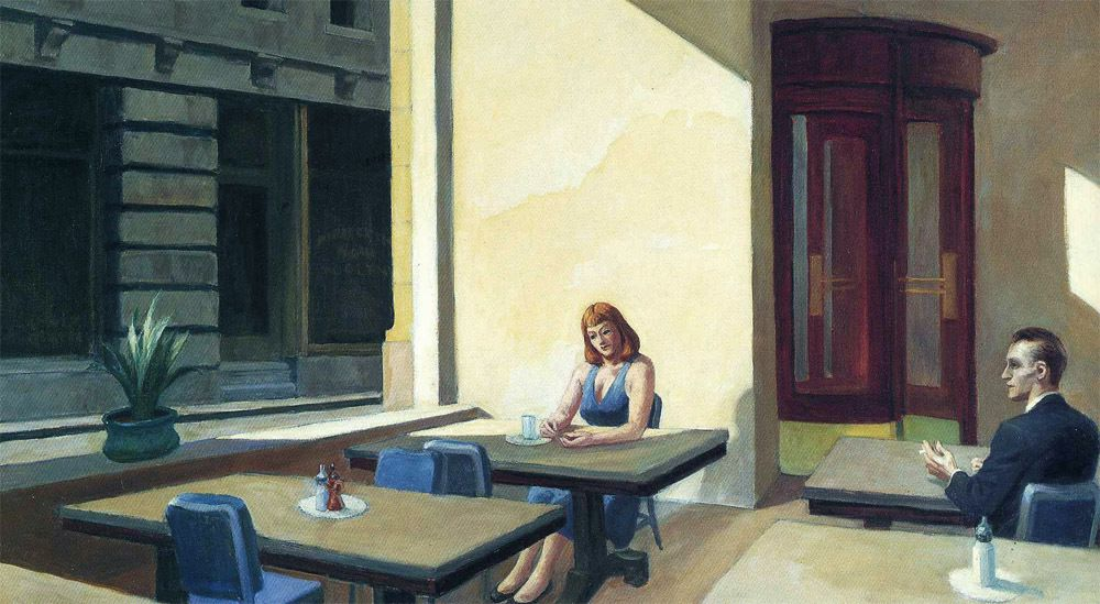 "Edward Hopper (1882-1967), ""Sunlight in the cafeteria"""