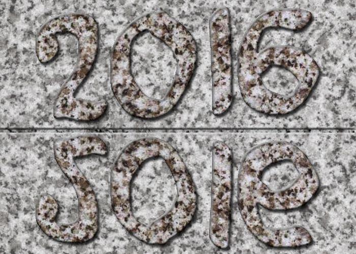 Une stèle qui ne manque pas de style pour une année qui prend seize aises...
