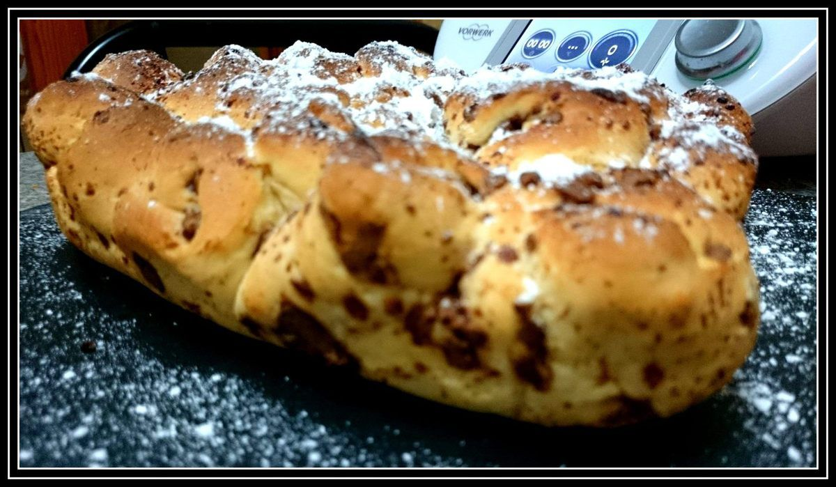 Corazon de brioche con chocolate Princesa