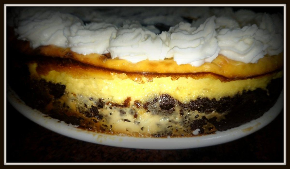 Cheese &amp&#x3B; chocolate cake (Estilo Foster´s Hollywood)