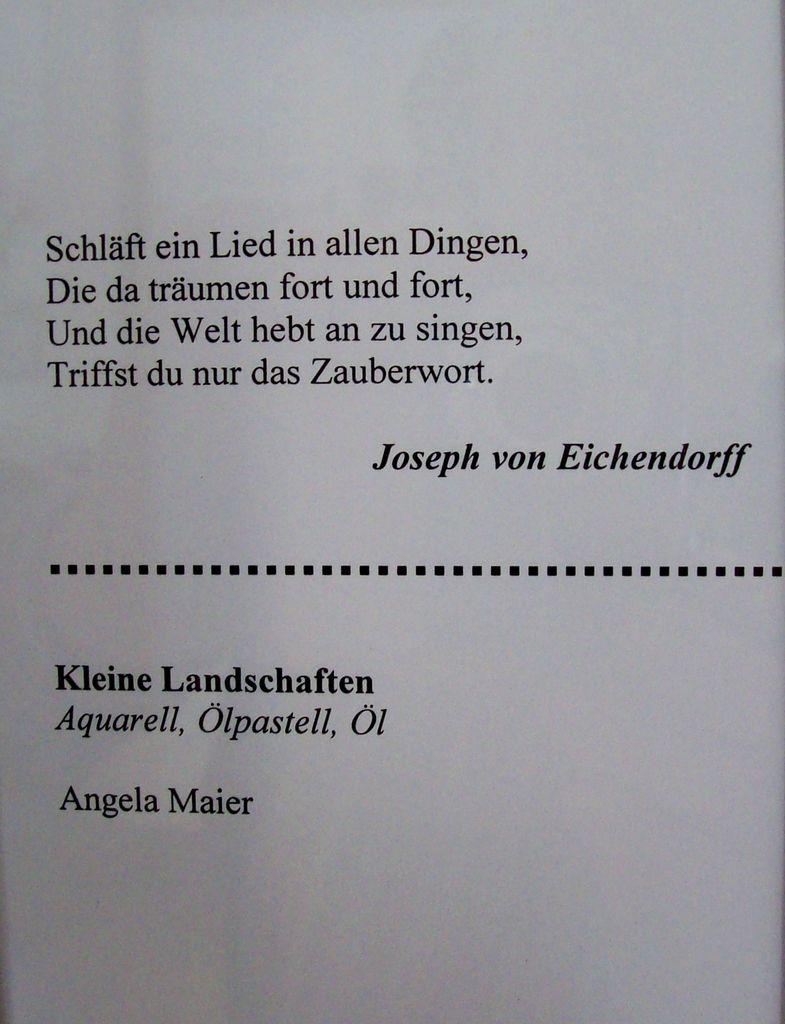 """Lyrik in Farbe"", Malerei"