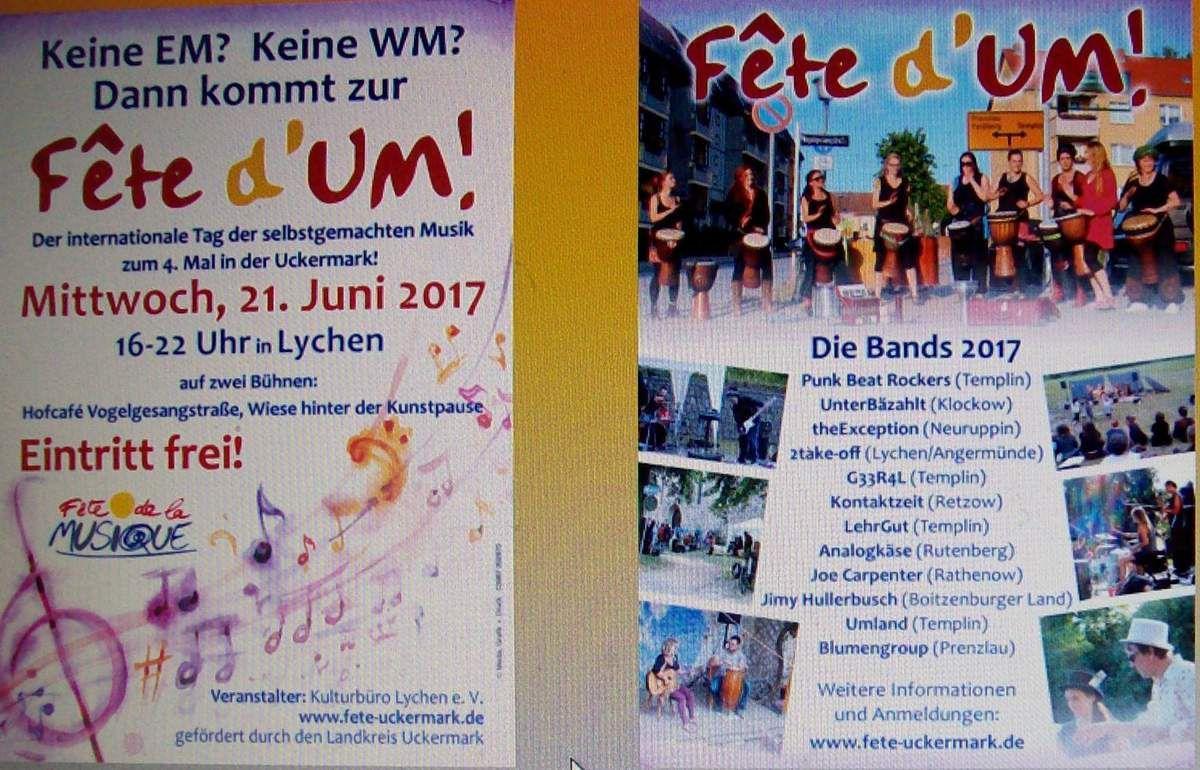 Fête de la Musique in Lychen