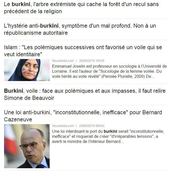 Hystérie autour du burkini : l'Obs publie 38 articles en un mois... et accuse les réseaux sociaux de créer la polémique