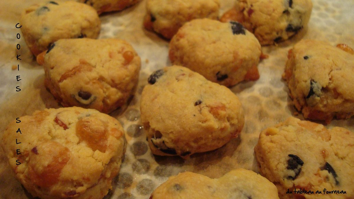 Cookies au bacon et olives noires