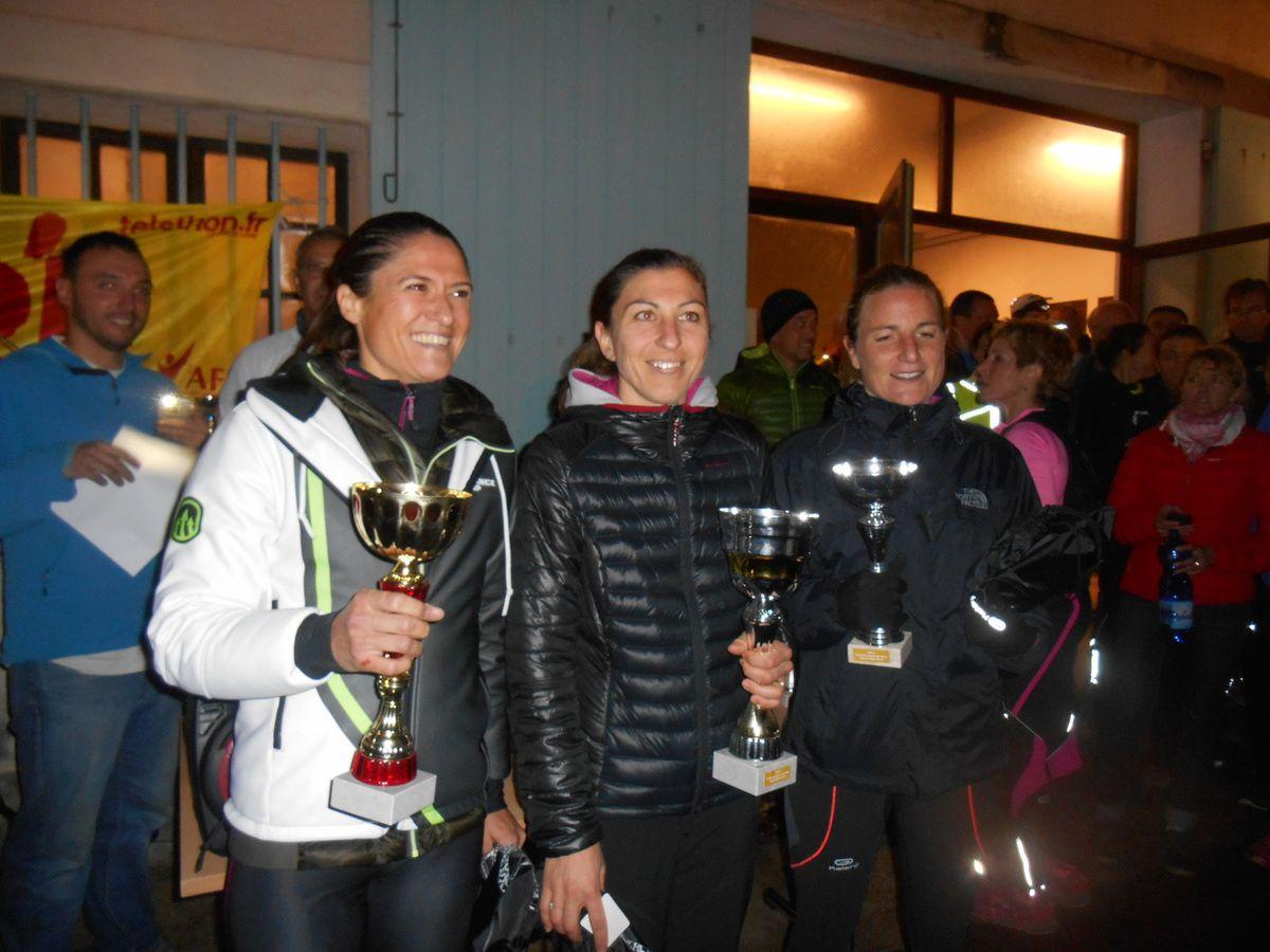 les deux podiums de la soirée: AUDREY 1ère féminine - RICHARD 3ème MH2
