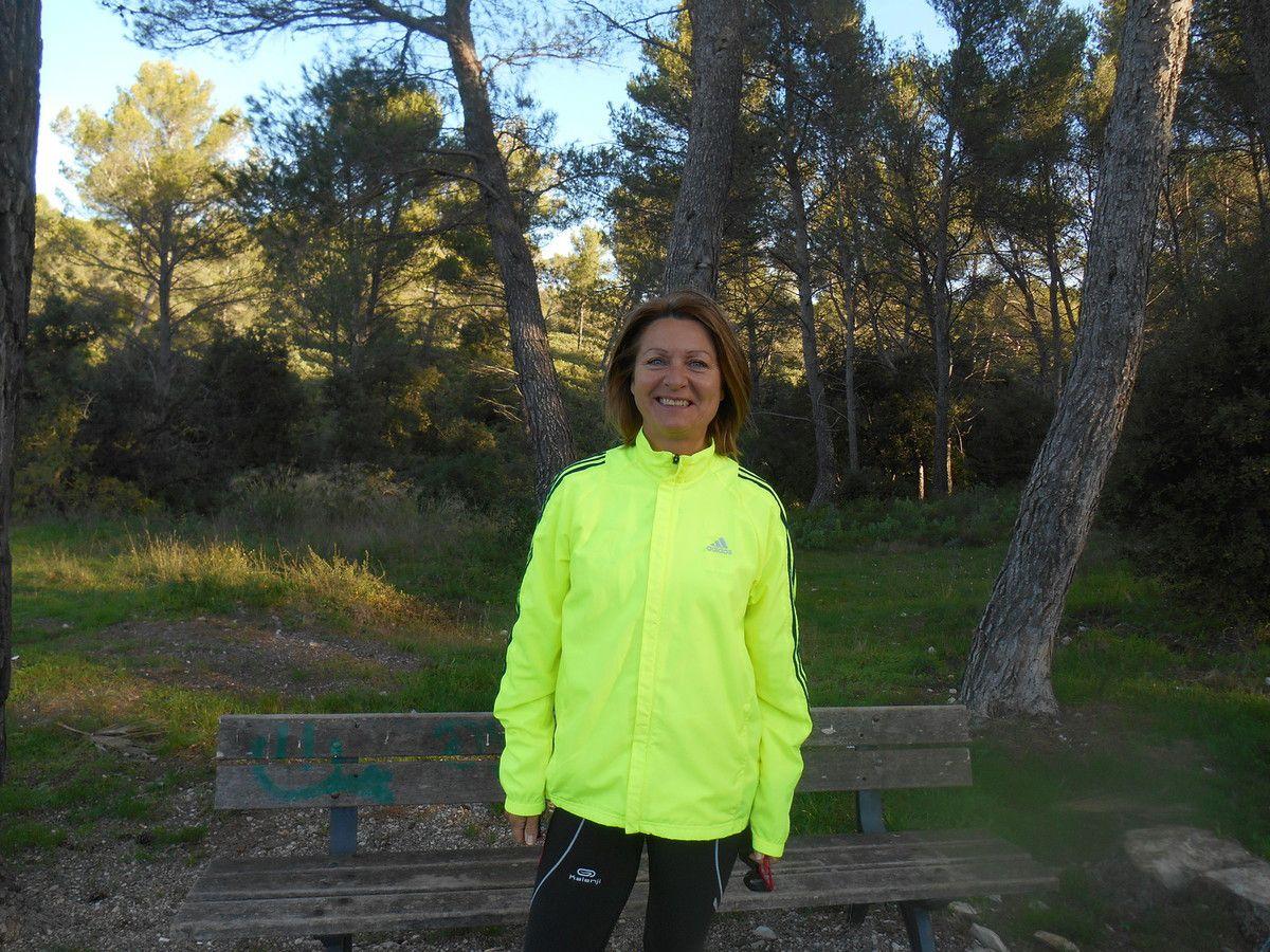 Michelle lors d'un entraînement