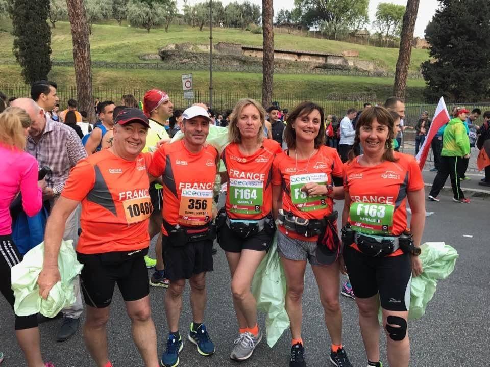 Nos cinq athlètes à ROME