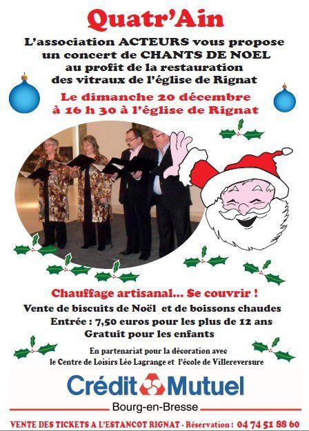 Quatr'Ain en concert à Rignat !