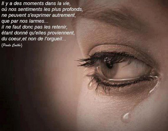 Dans mes yeux des larmes