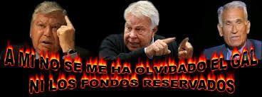 ESPAÑA: El criminal misterX felipe gonzalez ha dicho lo siguiente:  &quot&#x3B;el Psoe no sabe lo que quiere&quot&#x3B; -- Lo que quiere éste maleante es que gobierne  &quot&#x3B;Marrano&quot&#x3B; rajoy -- Por la cuenta que le tiene a él y a su familia --  Con el GAL y gracias a un juez argentino de apellido Bacigalupo se libró del banquillo --  Mas de 20 asesinados - secuestro de Segundo Marey - tortura y asesinato de Lasa y Zavala - saqueo de miles de millones del ministerio del interior -- Palomino - Y mas y mucho mas --  Éste golfo está cagado de miedo -- sabe que si gobierna el Psoe con Podemos  lo logico es pensar que &quot&#x3B;el tipejo&quot&#x3B; terminaria en la carcel --  Por eso quiere que gobierne Rajoy -- Confunde lo que le conviene a él --  con lo que nos conviene a los españoles -- Maldito sea Mas ladrones en la DGT con el marido de Maria Seguí Directora General empapelado por &quot&#x3B;presuntisimo&quot&#x3B; -- La subditrectora Marta Carrera ha sido cesada