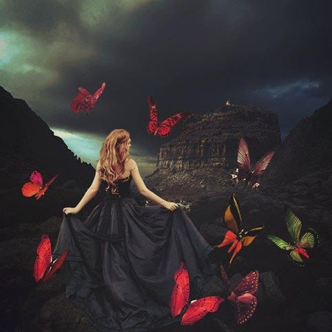 butterfly,papillon,fantasy women,magie,magic,féerie,fairy,fantastique,fantasy art