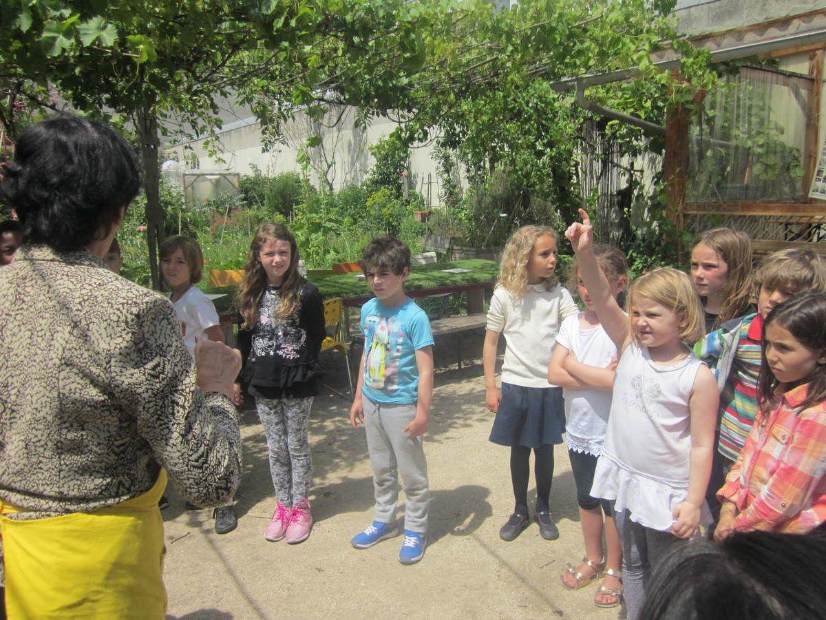 Les CE1 B visitent le jardin-guinguette de la Dhuys