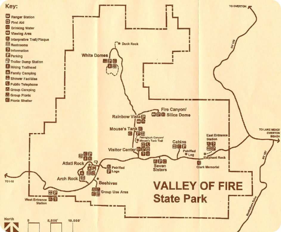Plan Valley of Fire State Park