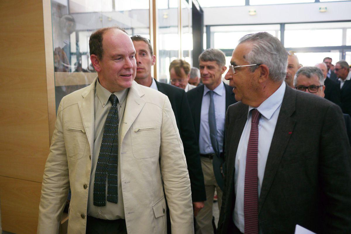 Avec le Prince Albert II de Monaco à Tautavel