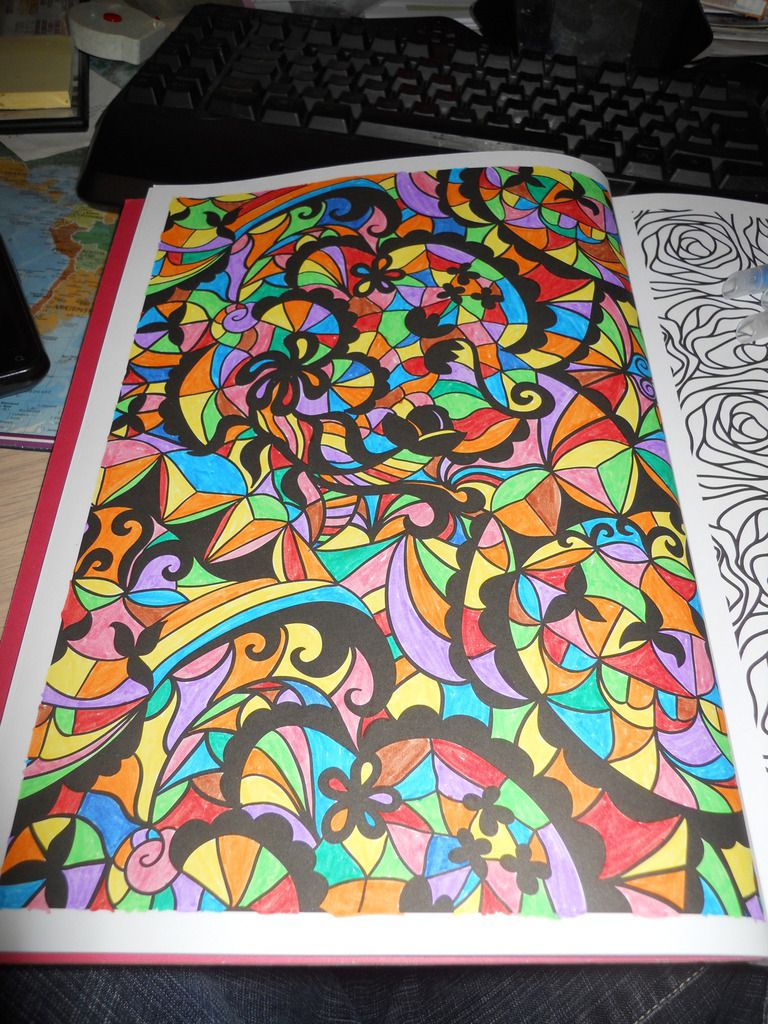 coloriage anti stress fini