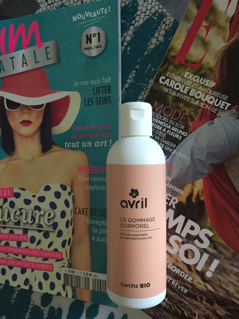 Quelques produits de la marque AVRIL cosmétiques BIO