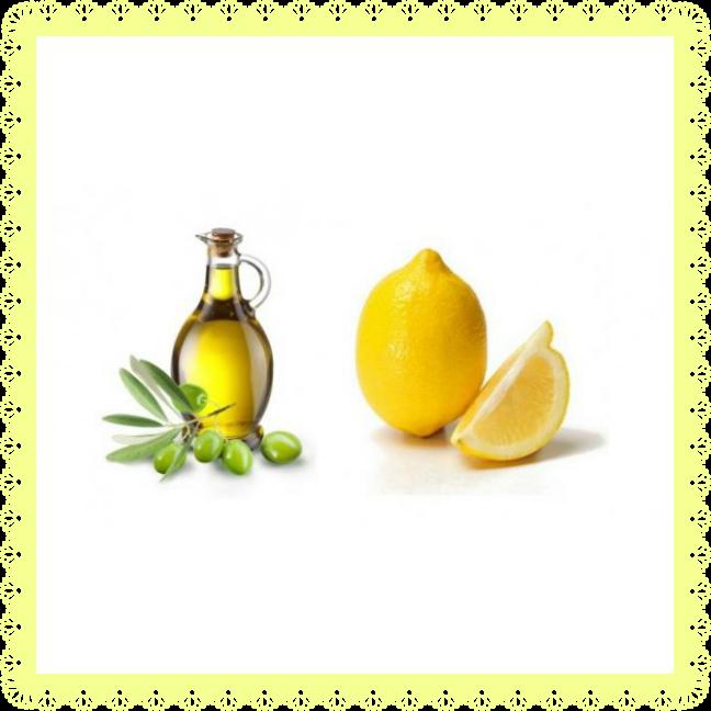 Huile d'olives et citron à appliquer sur la peau avant la bronzette avec modération