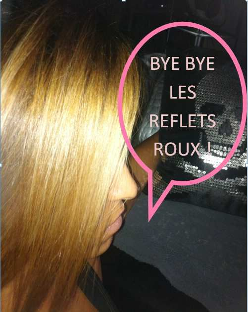 Coloration blond roux a blond cendre