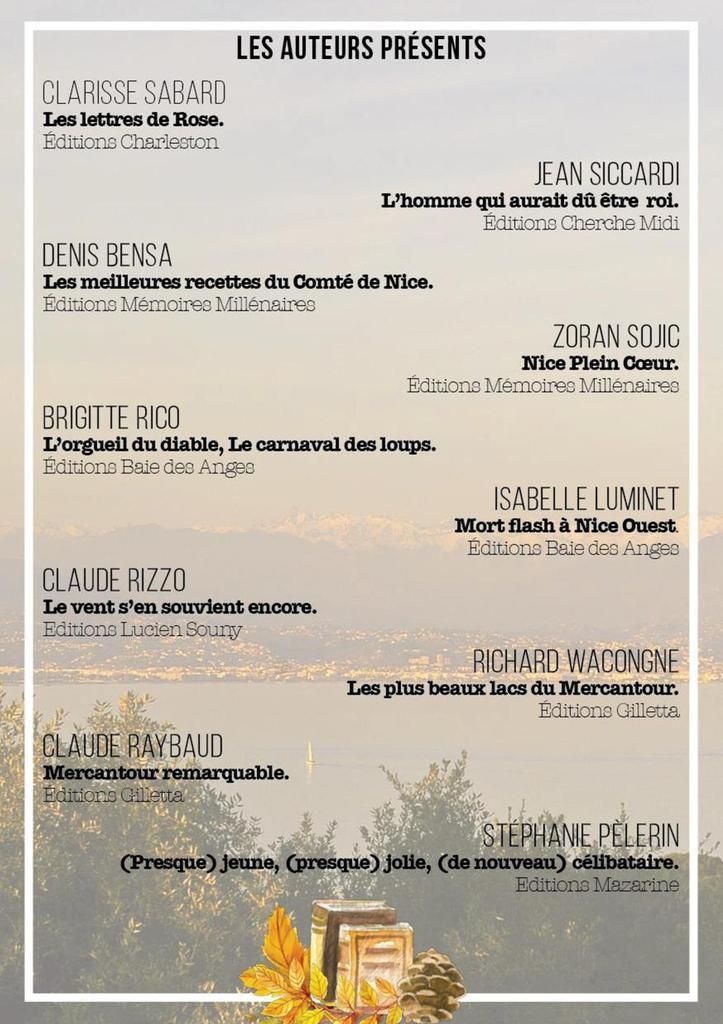 &quot&#x3B;Lire les Alpes Maritimes&quot&#x3B; Samedi 10 décembre 2016