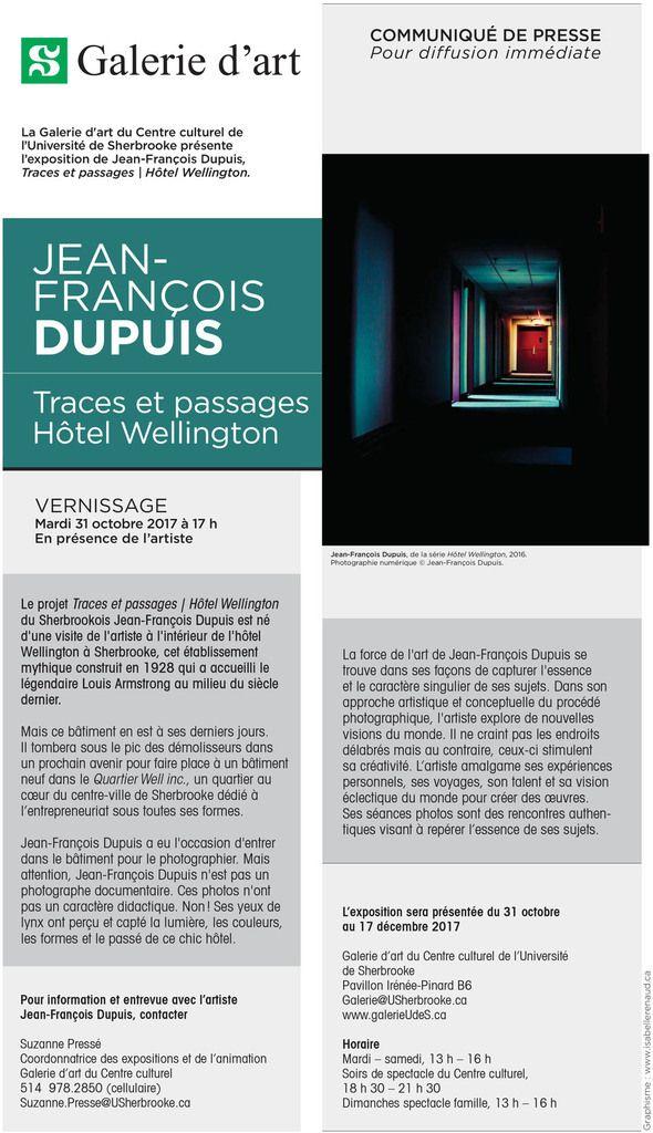Traces et passages | Hôtel Wellington de Jean-François Dupuis