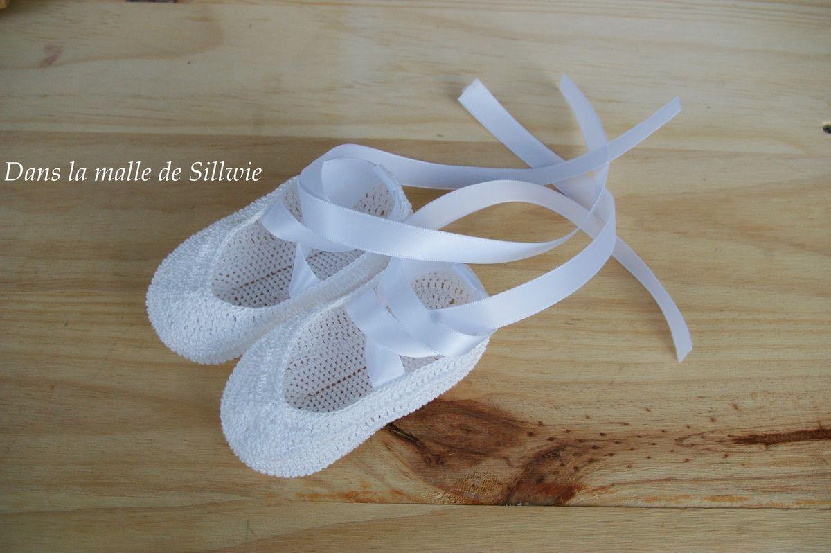 Minis Chaussons De Danse D Coratifs Blancs Au Crochet
