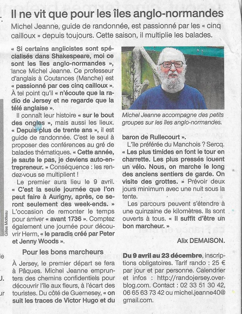 Ouest France page Normandie 2017-03-30