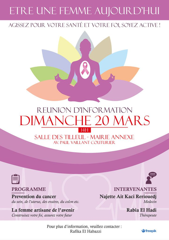 Flyer pour une association de quartier