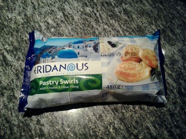 Pastry swirls with cheese and olive filling di Eridanous (Lidl)