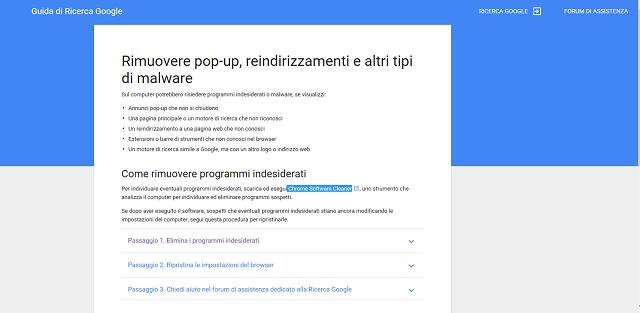 Come risolvere il problema di Google Chrome che apre finestre non richieste con allarmi di virus