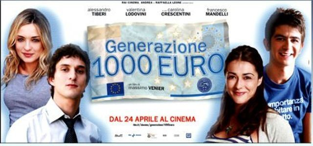 Generazione 1000 euro - (Massimo Venier, 2008) - Recensione - Con Alessandro Tiberi, Valentina Lodovini, Carolina Crescentini, Paolo Villaggio, Francesco Mandelli