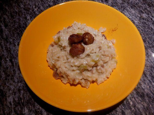 Risotto alle castagne e gorgonzola - (con castagne precotte sottovuoto &quot&#x3B;Ghisetti&quot&#x3B;)