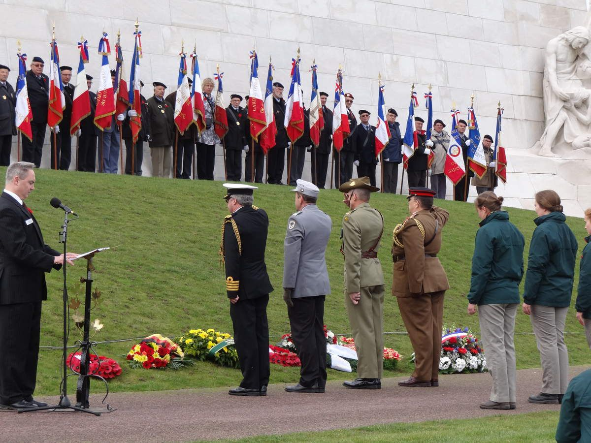 Dimanche 08 Novembre 2015 Cérémonie du Jour du Souvenir au Mémorial National du Canada à Vimy.