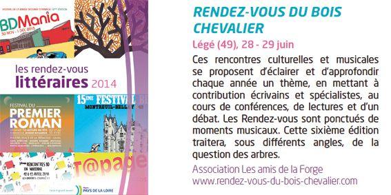 Revue des Rendez-vous littéraires éditée par La Région des Pays de la Loire