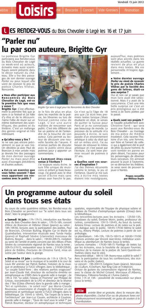 Le Courrier du Pays de Retz 15 juin 2012