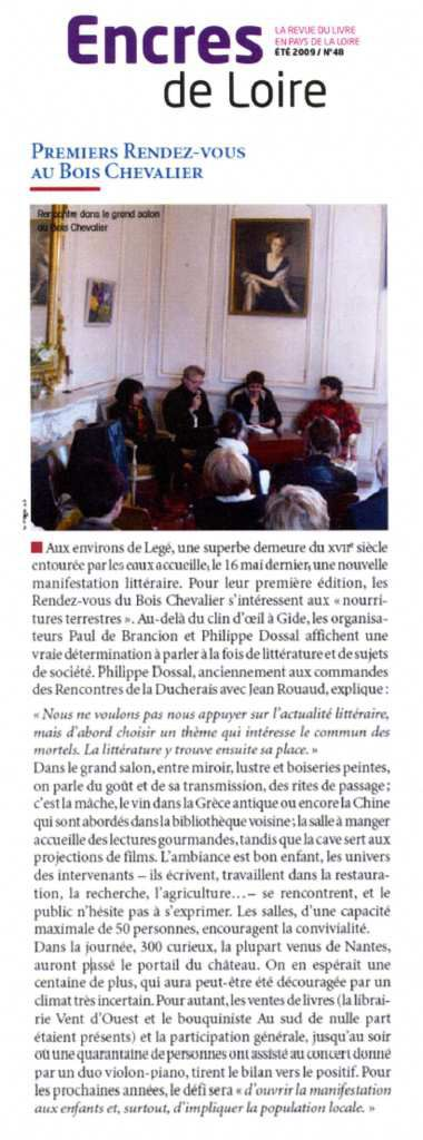 Encres de Loire - Conseil régional des Pays de la Loire