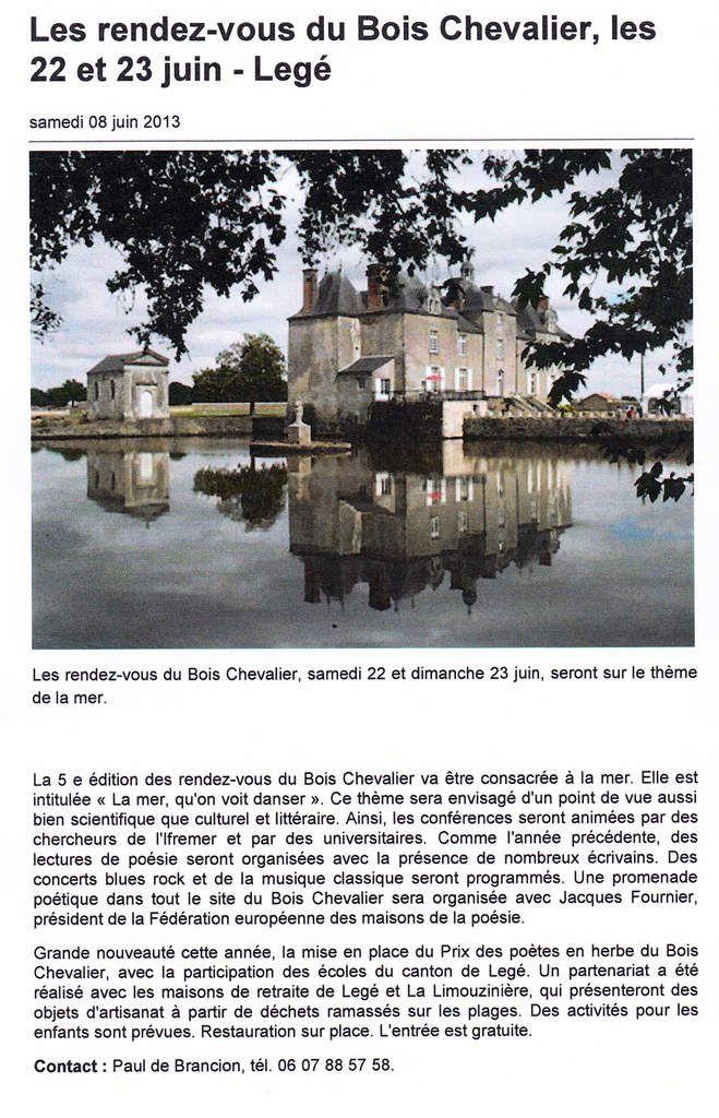 Ouest-France - 8 juin 2013