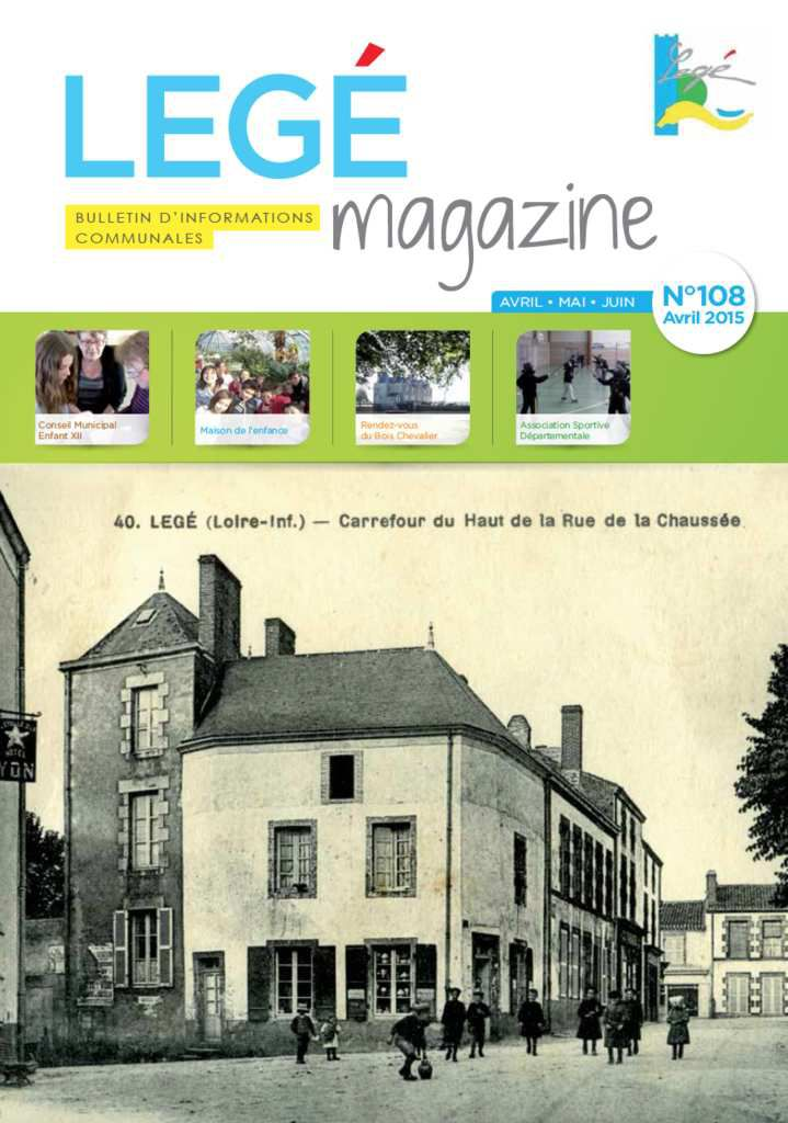 Bulletin d'informations communales de Legé - avril 2015
