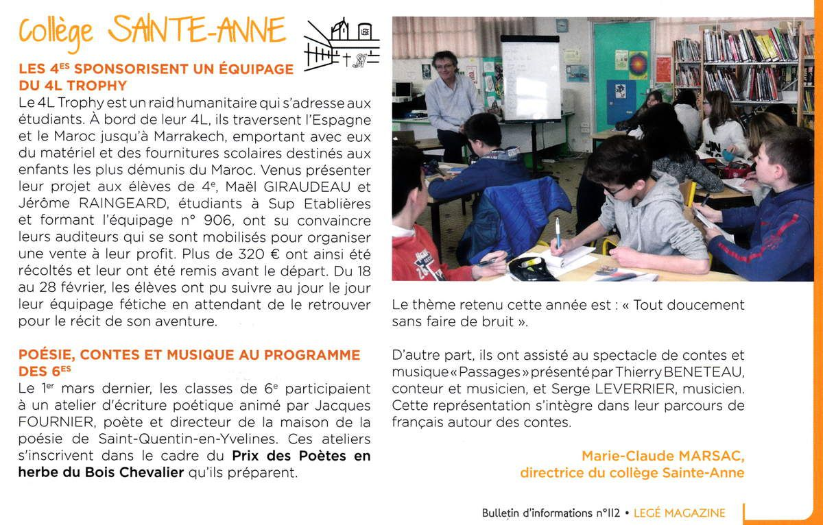 Bulletin d'informations communales avril, mai, juin 2016