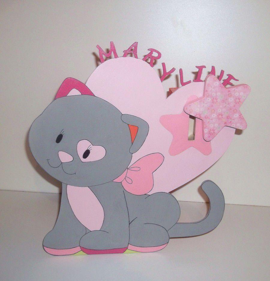 Lustre Hello Kitty Chambre : Tirelire en bois pour enfant d'iris des noukies personnalisable au …