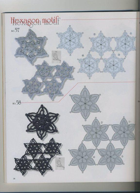 Hexagonales et étoiles 36
