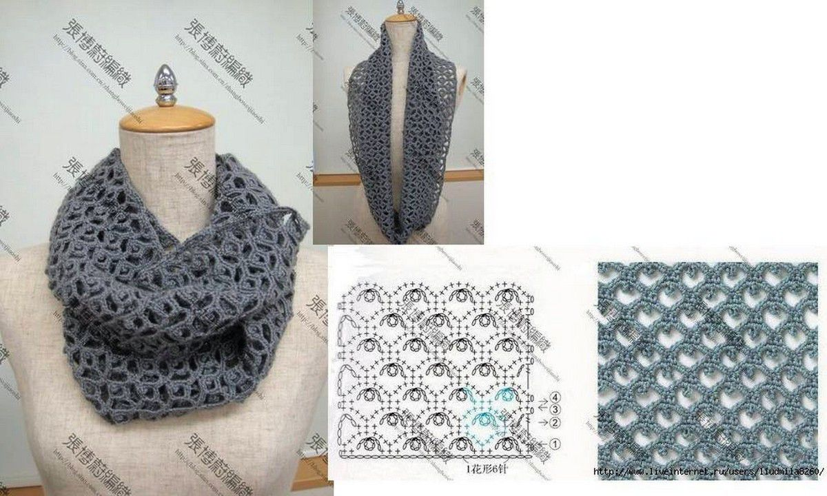 modele de snood au crochet