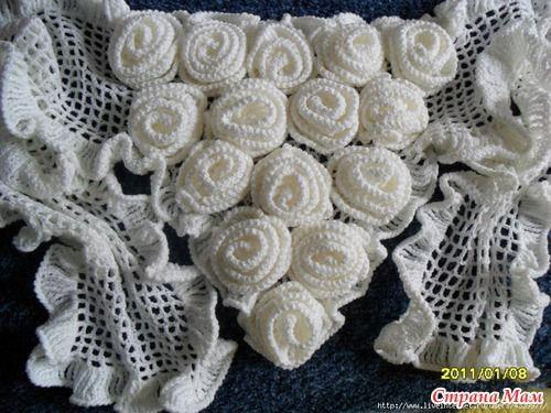 Le châle au bouquet de rose