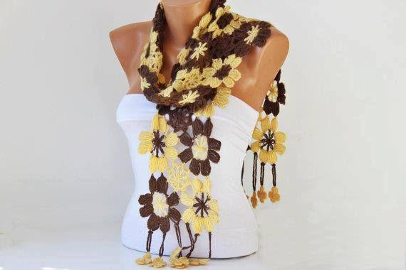 Les écharpes en fleurs
