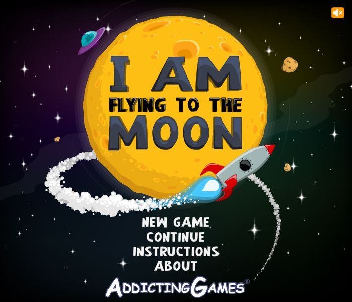 I Am Flying To The Moon - Jeu Flash